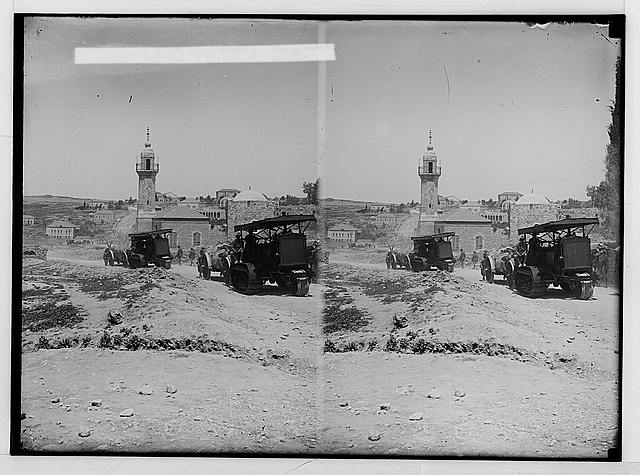 Various results of the war. British artillery passing through Jerusalem.