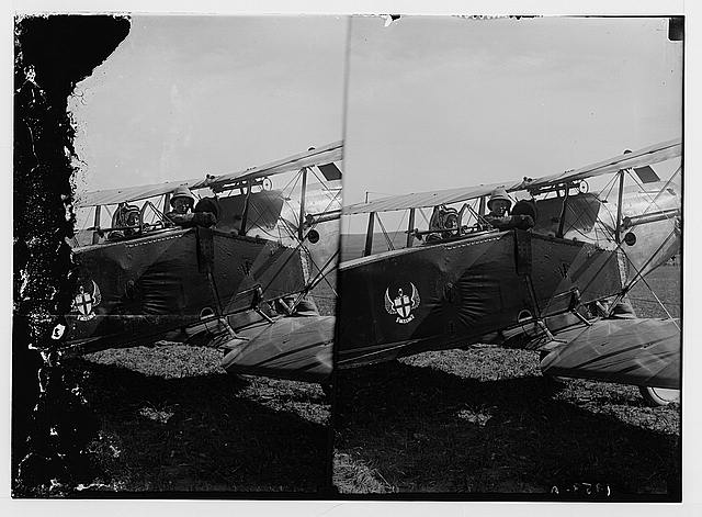 Sir Herbert Samuel's second visit to Transjordan, etc. Col. [T.E.] Lawrence in airplane ready for a flight to el-Azrak.