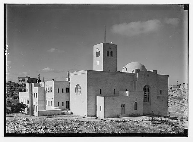 Newer Jerusalem and suburbs. St. Andrew's Church & Hospice near R.R. [i.e., railroad] station