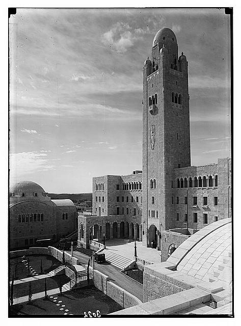 Newer Jerusalem and suburbs. Y.M.C.A. main bldg. [i.e., building] & tower. St. Julian's Way