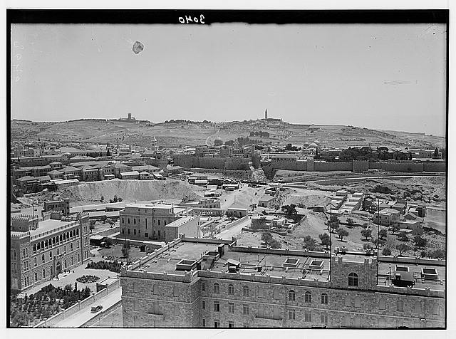 Newer Jerusalem and suburbs. The city & Olivet from Y.M.C.A. tower