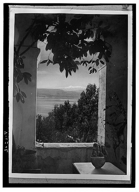 Scots Mission Hospital, Tiberias. Composite through archway at the Torrance home.