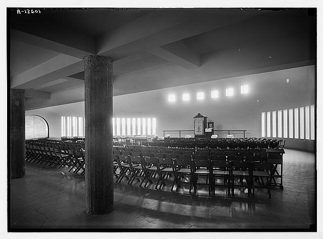 The Geshurun Synagogue on King George Ave. Interior looking N. east.