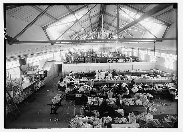 Jewish factories in Palestine on Plain of Sharon & along the coast to Haifa. The Lodzia Textile Co. in Holon settlement (meaning sandy). Knitted underwear department