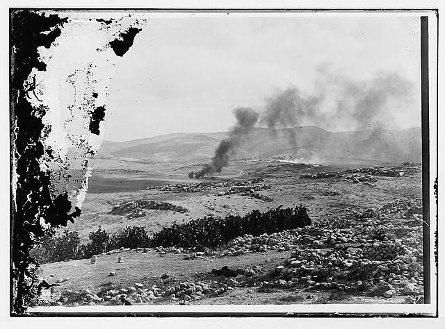 Burning of threshing floors during Arab-Jew. [i.e., Jewish] riots [Artuf]
