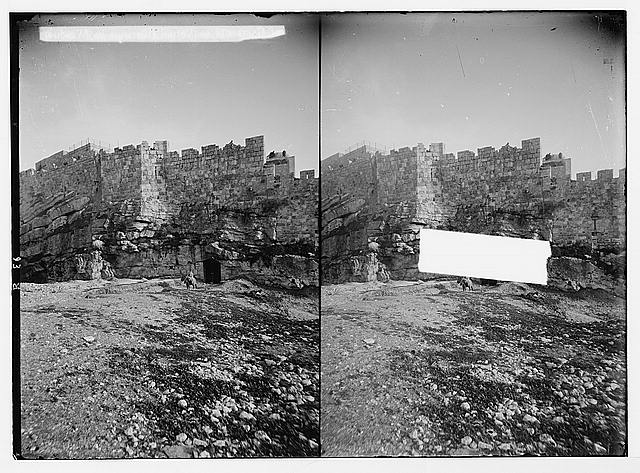 Damascus Gate and environs. Entrance to King Solomon's Quarries