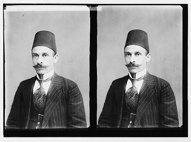 The surrender of Jerusalem to the British December 9th, 1917. Hussein Selim el-Husseini who surrendered Jerusalem.