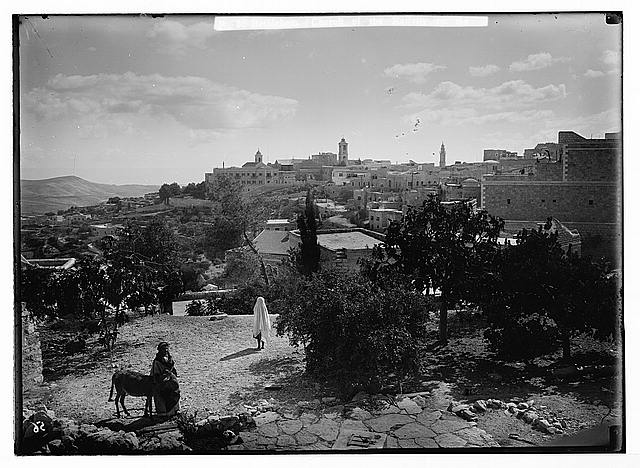 Bethlehem. (Church of the Nativity on the horizon from the N.W.)