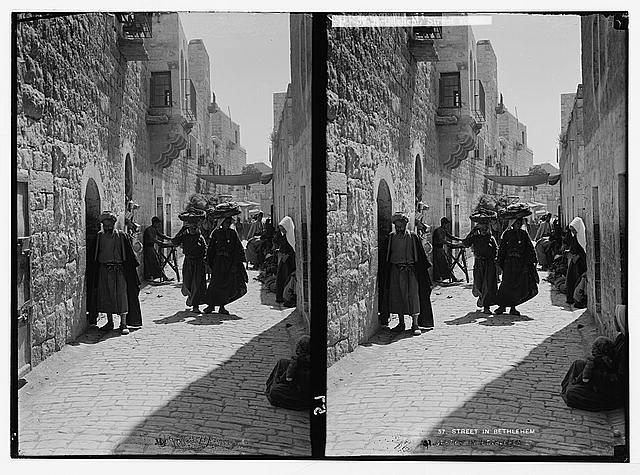 Bethlehem. Street scene. (Street leading to the Church of the Nativity)