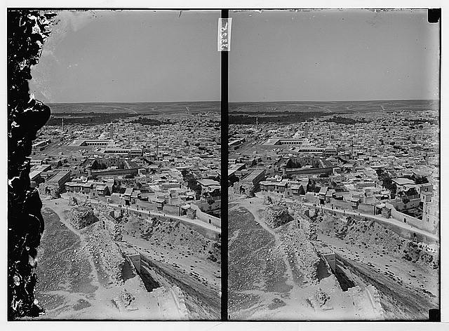 [Aleppo (Haleb) and environs. View of Aleppo from the castle]