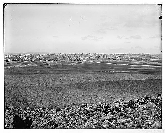 Jerusalem (El-Kouds). Distant view of western section of Jerusalem from the north
