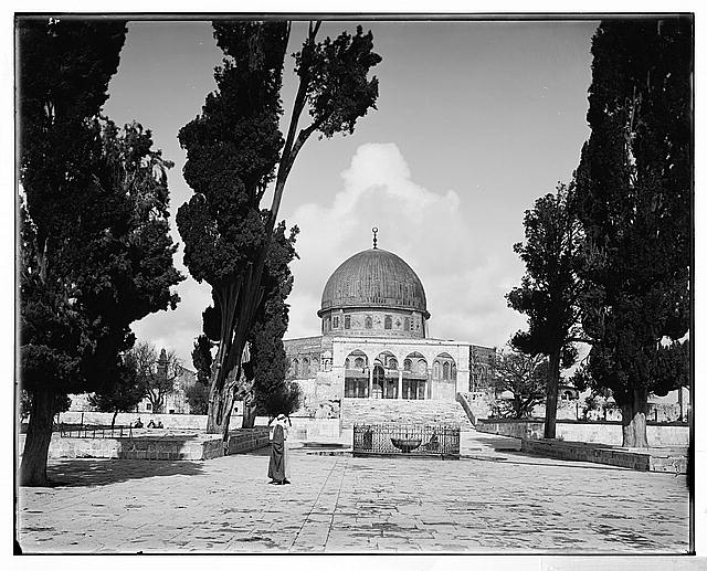 Jerusalem (El-Kouds). Mosque of Omar [i.e., Dome of the Rock] from the south