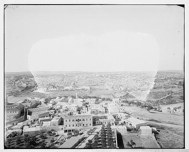 [Village of Mount of Olives and Jerusalem from the tower of the Russian church]