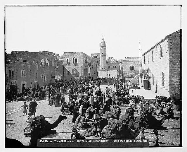 Bethlehem (Beit-Lahm) and surroundings. The market place