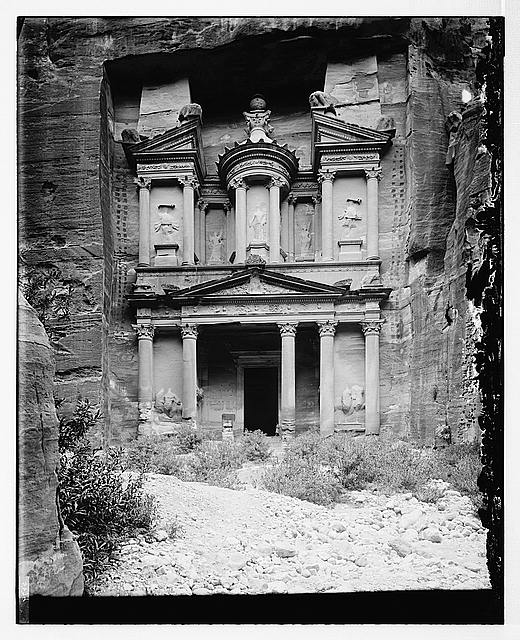 Petra. Front view of Temple of el-Khazneh