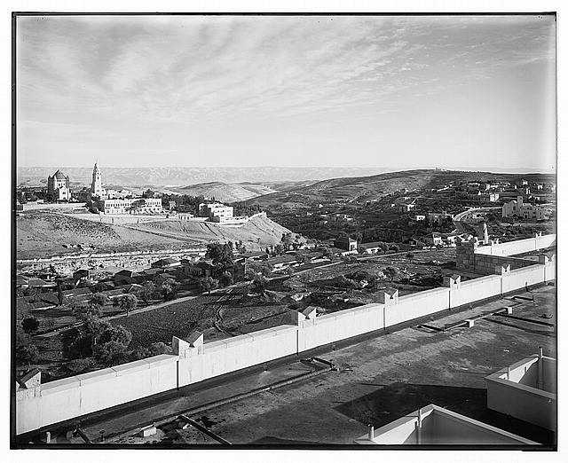 [Jerusalem. View from the southwest from the King David Hotel, 1938. Mount Zion in Moshee, Mishkenot Shaanamin]