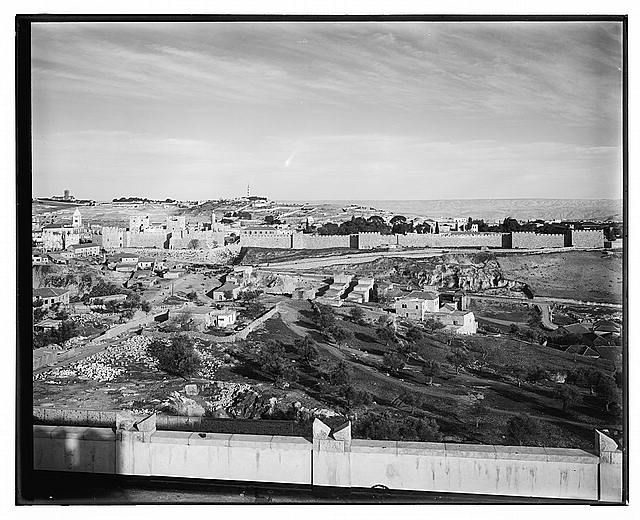 [View from the King David Hotel, Jerusalem, 1938]