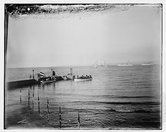 Landing of Emp[eror] at Haifa, 1898