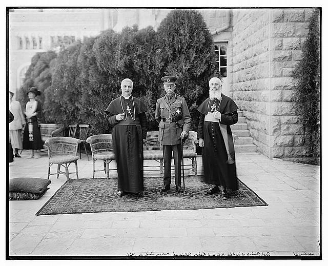Lord Plumer with Abp. [i.e., archbishop] of Naples & Latin Patriarch Aug. 11, 1926