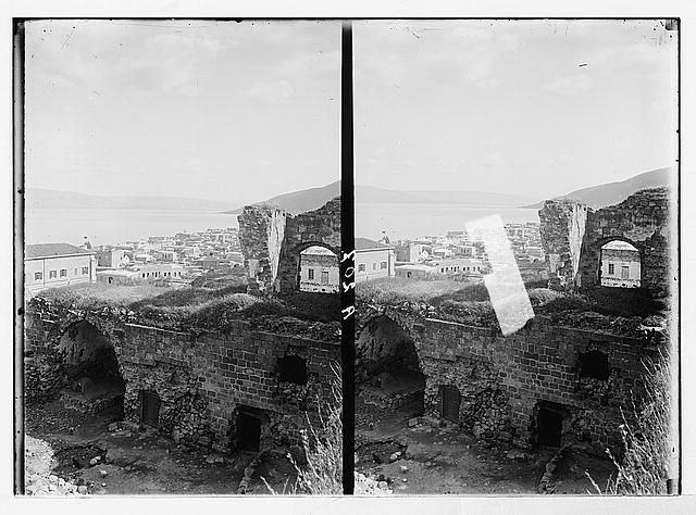 Northern views. Tiberias from the citadel