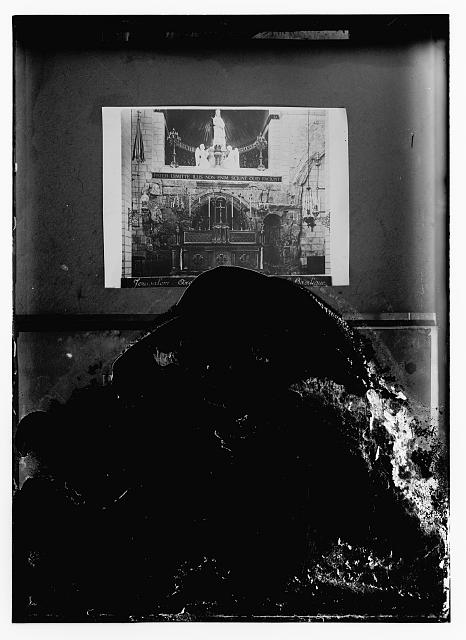 [Copy of photo of altar in Church of the Ecce Homo, Jerusalem]