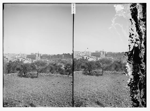 [View of Jerusalem from the west]