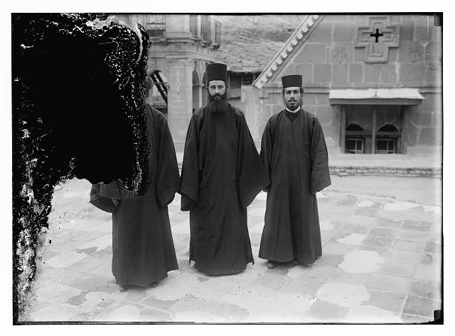Greek Orthodox priests at St. Catherine's Monastery in the Sinai