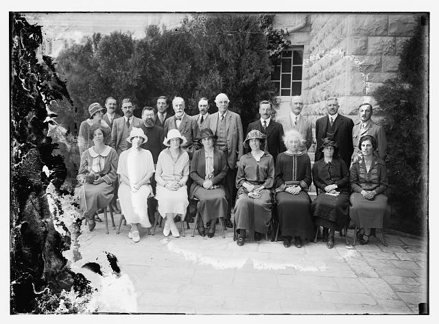 [Group of important delegates to the opening ceremony of Hebrew University, 1925]