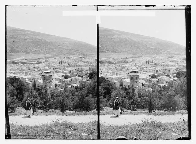 General view of Nablous and Mt. Ebal