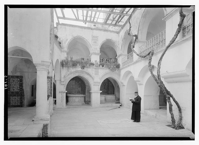 Interior court of House of Caiaphus, Mt. Zion