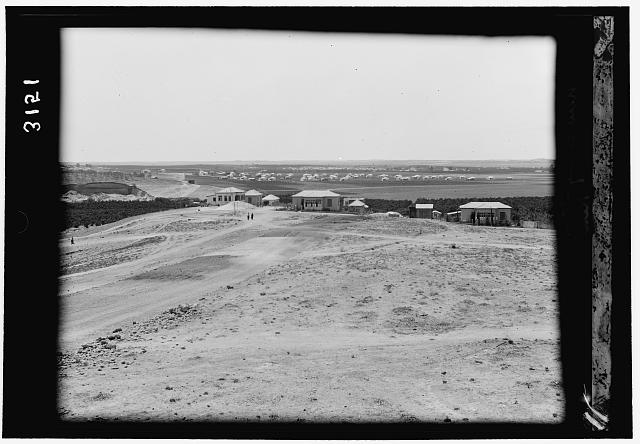 Zionist colonies on Sharon. The Arlosoroff Colony. Distant view from Rehoboth
