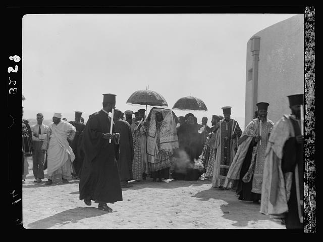 Down the Jordan Valley from the Sea of Galilee to the Dead Sea. New Ethiopian Jordan Monastery. Dedication, Oct. 1, 1933