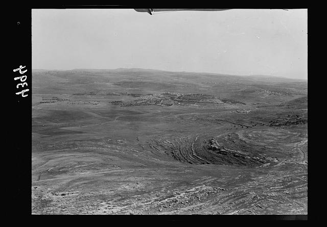 Air views of Palestine. West of Jerusalem. El Jib, Gibeon. West of Mizpah