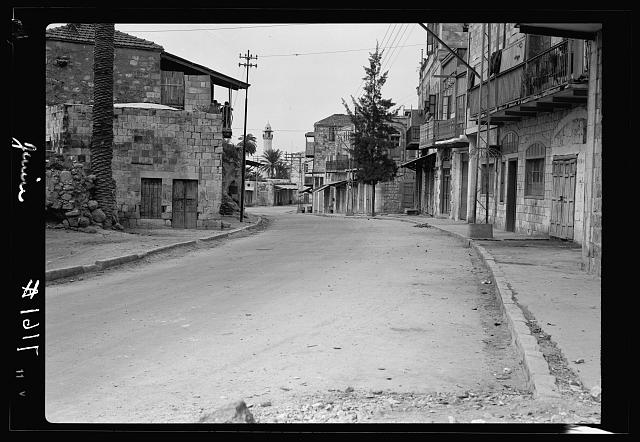 Jenin. Deserted under 22 hours curfew, May 1, 1938