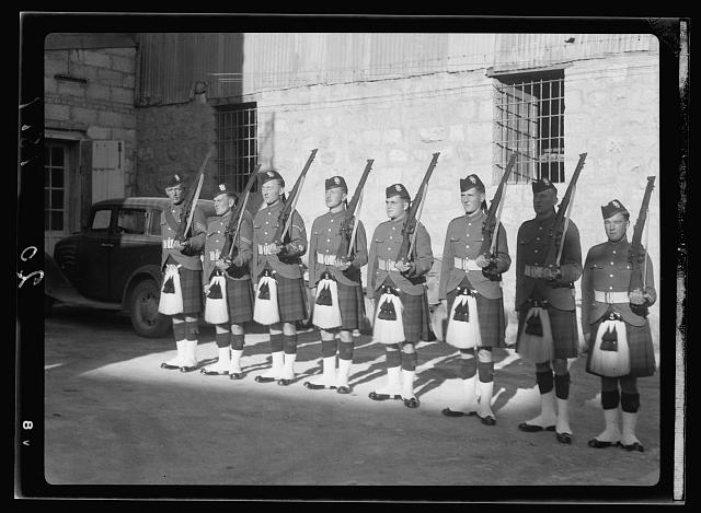 Military guards before court [Jerusalem]