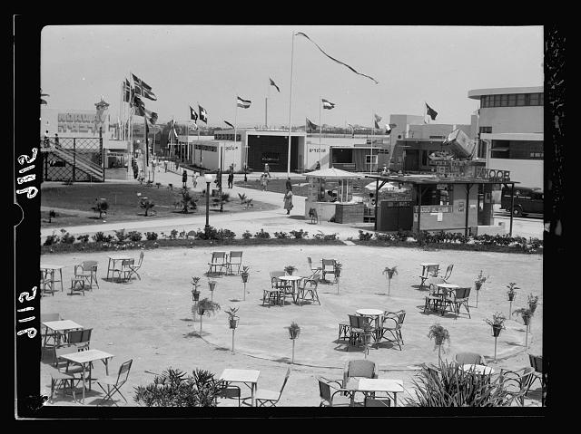 Palestine disturbances 1936. The Fair grounds showing empty chairs and conspicuous lack of attendants [Tel Aviv]