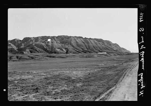 Dead Sea Album, prepared for the Palestine Potash Ltd. View looking due north toward the S. end of Jebel Usdum