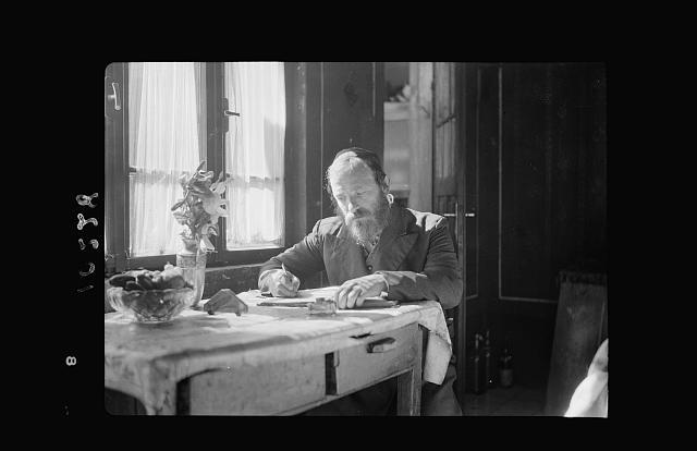 Askenazim [i.e., Ashkenazi] Jew in his home (Scribe)