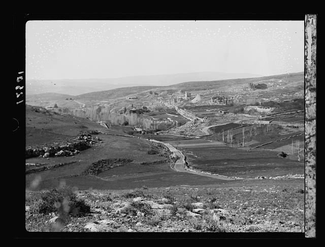 Jerash. Gen[eral] view looking S. from hills on N. side, distant