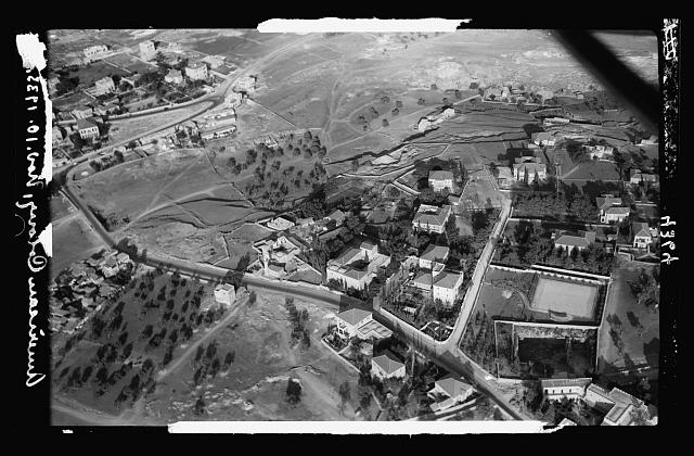 Air views of Palestine. Jerusalem from the air. Newer Jerusalem. The American Colony. In Sheikh Jerrah Quarter