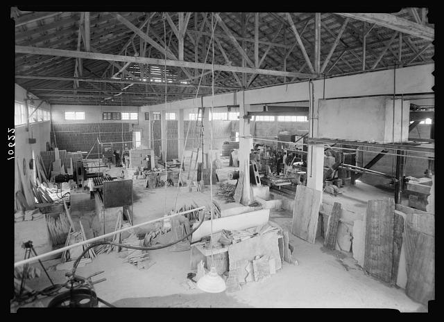 "Jewish factories in Palestine on Plain of Sharon & along the coast to Haifa. Petah-Tikvah, The ""Marzefia"" Co. Marble works. Gen[eral] view of the marble works, int[erior]"
