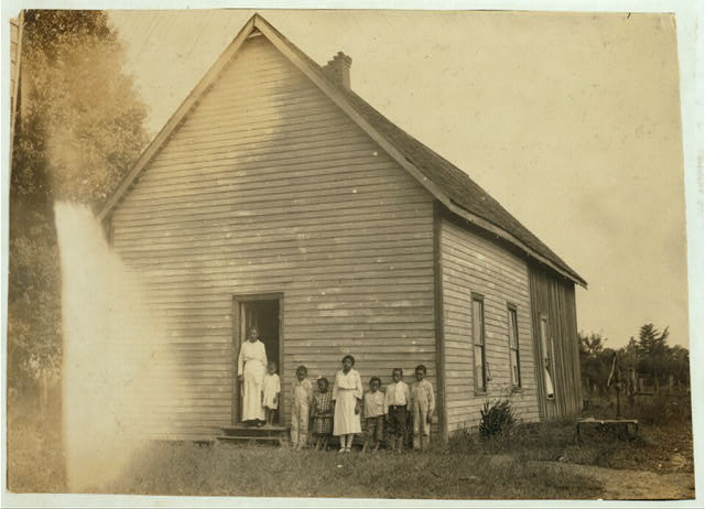 "Colored School at Anthoston. Census 27, enrollment 12, Attendance 7. Teacher expects 19 to be enrolled after work is over. ""Tobacco keeps them out and they are short of hands."" Ages of those present: 13 years = 1, 10 years = 2, 8 years = 2, 7 years = 1, 5 years = 1.  Location: Henderson County, Kentucky"