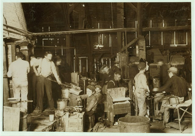 Scene in Woodbury Bottle Works. They work nights.  Location: Woodbury, New Jersey.
