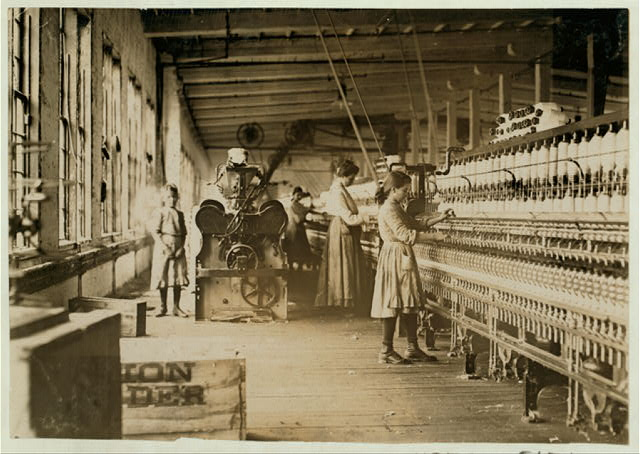 Two young spinners in Catawba Cotton Mills.  Location: Newton, North Carolina.