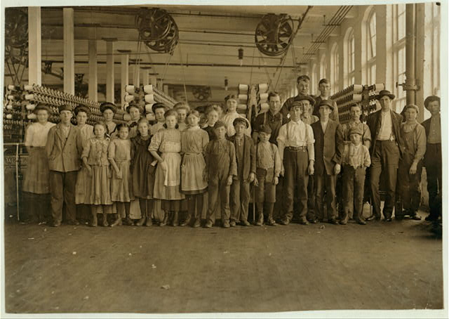 This shows the number of small children on the day shift (50 employees in all) Whitnel, (N.C.) Cotton Mfg. Co. Nearly as many small ones on night shift. This is a new up-to-date mill.  Location: Whitnel, North Carolina.