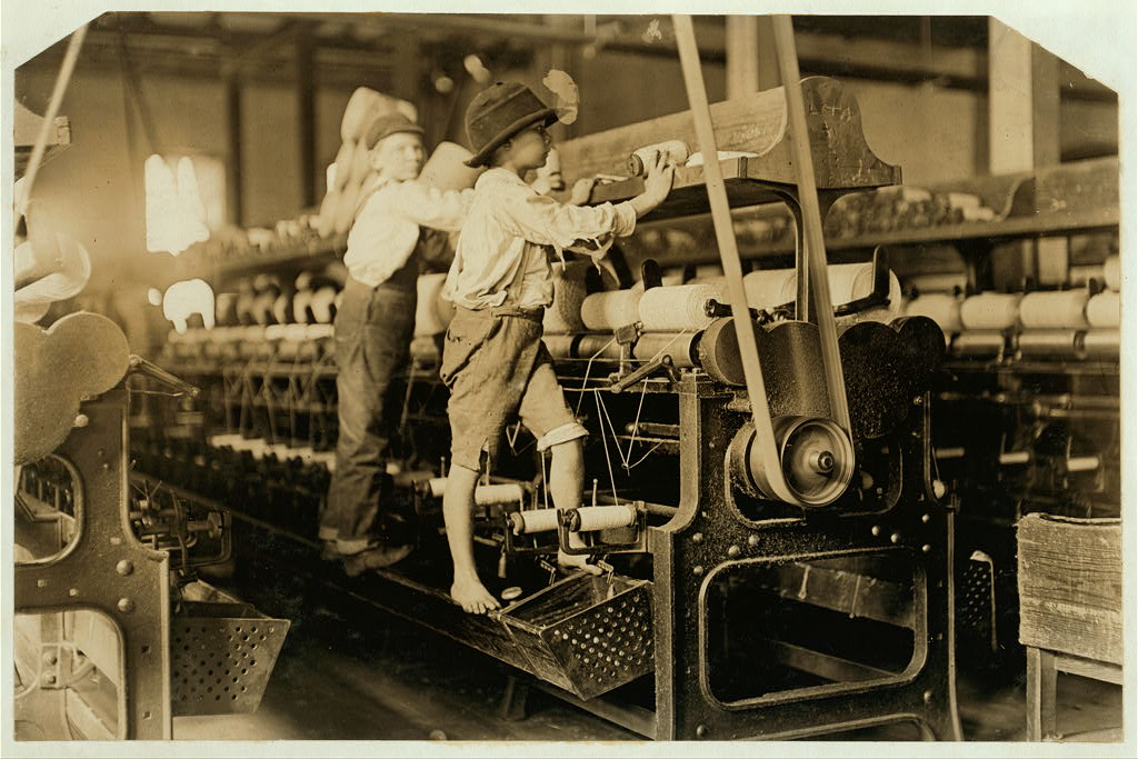 "From the Lewis Hine's Collection Library of Congress. In 1954 the Library received the records of the National Child Labor Committee, . . . 350 negatives by Lewis Hine. In giving the collection to the Library, the NCLC stipulated that ""There will be no restrictions of any kind on your use of the Hine photographic material."""
