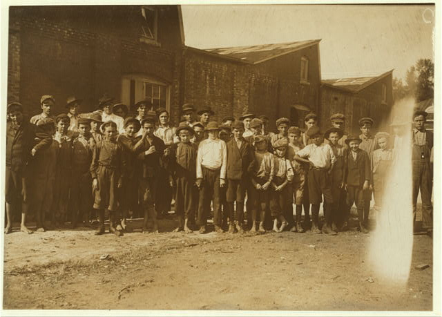 All these are workers in the Pell City Cotton Mill. Mr. E.A. Thompson, Superintendent of the Mill is also Mayor of Pell City.  Location: Pell City, Alabama.