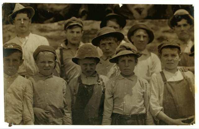 Group of young workers in Clifton Mills, Clifton, S.C. Some still smaller wouldn't go in the photograph.  Location: Clifton, South Carolina.