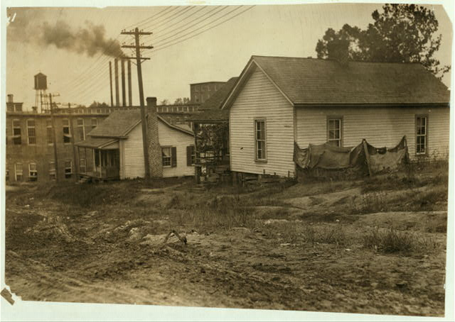 "Some of the housing conditions of the workers in Cannon Mills, Concord, N.C., to contrast with the homes and gardens sometimes shown from the ""show mills"" of the state.  Location: Concord, North Carolina."