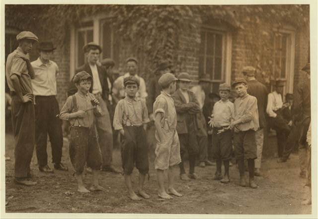 A few of the young boys working in the Cannon Mills, Concord, N.C., but only a few of them and not the smallest.  Location: Concord, North Carolina.